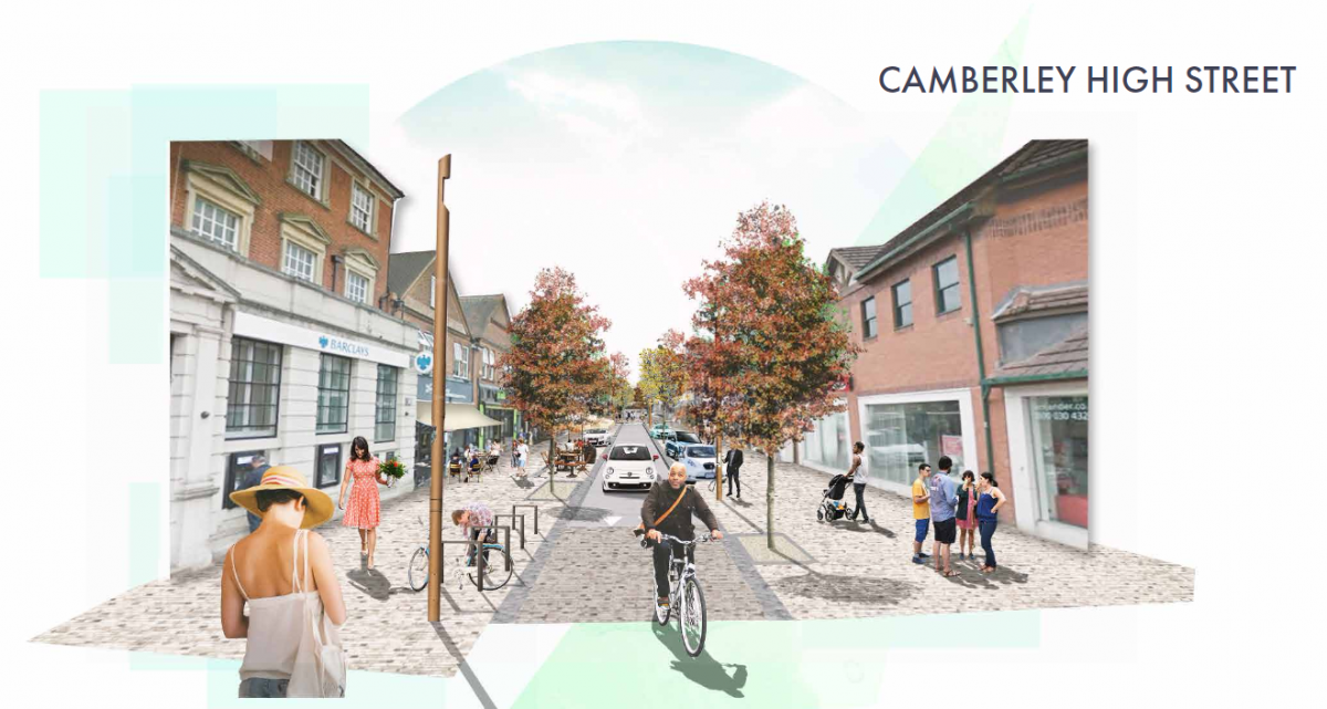 Computer generated image of Camberley High Street