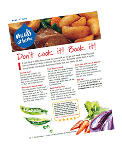 Meals at home - Don't cook it, book it article
