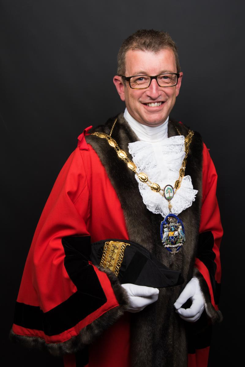 The Mayor of Surrey Heath Cllr Dan Adams