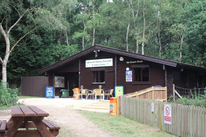 Cafe and information point at Lightwater Country Park