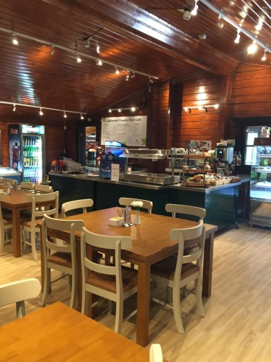 Inside the cafe at Lightwater Country Park