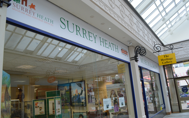 Front of the Surrey Heath Museum